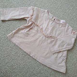 ザラ(ZARA)のZARAbaby ザラベビー フリル刺繍Tシャツ 74㎝ ロンT カットソー(Tシャツ)