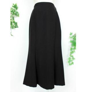 ソワール(SOIR)の新品 黒 スカート マーメイド 7号 ~ 9号 ウエスト64cm 東京ソワール(ひざ丈スカート)