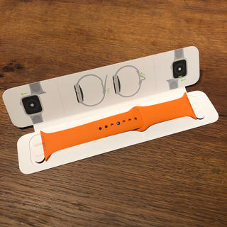 アップルウォッチ(Apple Watch)のアップルウォッチエルメス オレンジベルトのみ 44㎜(ラバーベルト)