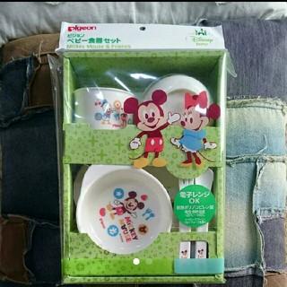 ディズニー(Disney)の☆くまくま221様専用☆  ピジョン  ベビー食器セット(離乳食器セット)
