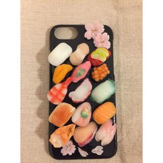 桜とミニチュアお寿司のスマホケース(モバイルケース/カバー)