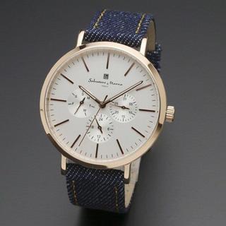 サルバトーレマーラ(Salvatore Marra)の新品 サルバトーレマーラ メンズ 腕時計 デニム SM16115-PGWHPG(腕時計(アナログ))