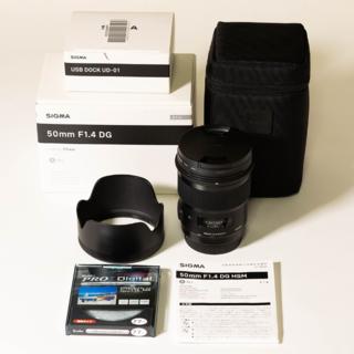 シグマ(SIGMA)のSIGMA Art 50mm F1.4 DG HSM + USB DOCK(レンズ(単焦点))