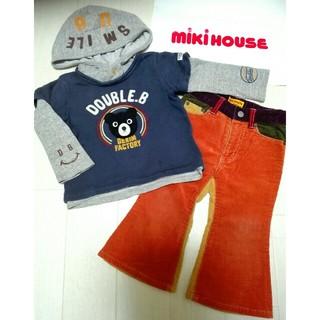 ダブルビー(DOUBLE.B)のミキハウス ダブルB❤トレーナー&ズボン2点セット❤90センチ(Tシャツ/カットソー)