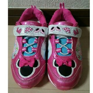 ディズニー(Disney)の美品 19.5cm靴 ピカピカ光るミニーシューズ(スニーカー)