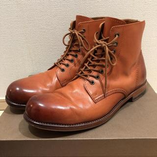 パドローネ(PADRONE)のPADRONE 牛革 バックジップ ブーツ 41 26.5cm(ブーツ)