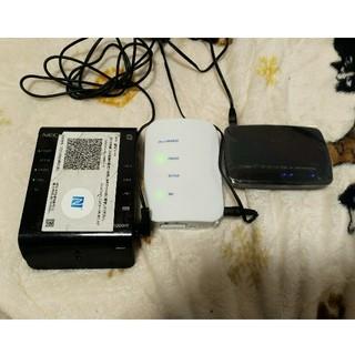 エヌイーシー(NEC)のwifiルーター3つセット WG1200HS WR8165N(PC周辺機器)