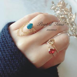 ミヤ様専用★ドロップクリスタルリング(リング(指輪))
