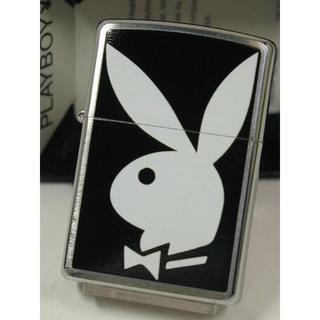 ジッポー(ZIPPO)のZippo Playboy Bunny プレイボーイ 白黒 #28269(タバコグッズ)