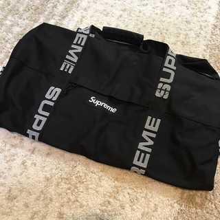 シュプリーム(Supreme)の【訳アリ】Supreme 18SS Duffle Bag 普通サイズ ブラック(ドラムバッグ)