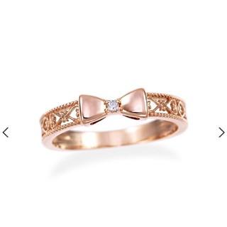 ジュエリーツツミ(JEWELRY TSUTSUMI)の【ジュエリーツツミ】K10ピンクゴールドダイヤモンド ピンキーリング 1号 (リング(指輪))