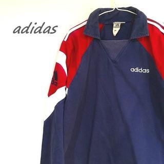 アディダス(adidas)のアディダス プルオーバー ネイビー 赤 I-53(カバーオール)