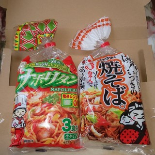五木食品  ナポリタン&焼そば  (各3食入)(麺類)
