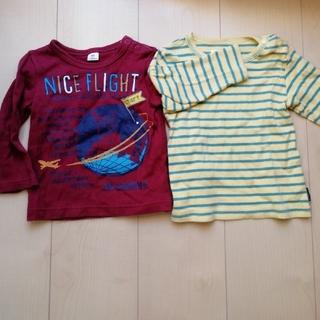 キムラタン(キムラタン)のラキエーベ 80長袖Tシャツ2枚セットロンT保育園 (Tシャツ)