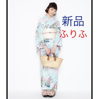 フリフ(ふりふ)のnico326様専用 新品 ふりふ 浴衣 くじらマリン(浴衣)
