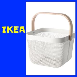イケア(IKEA)のIKEA  RISATORP バスケット ホワイト (バスケット/かご)