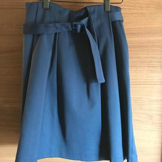 デミルクスビームス(Demi-Luxe BEAMS)のBEAMS Demi-Luxe ベルト付きタイトスカート(ひざ丈スカート)