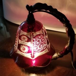 アンティーク風 切子ガラス卓上ランプ(テーブルスタンド)