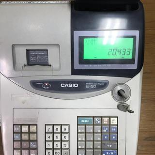 カシオ(CASIO)のCASIO 電子レジスター TE-120(店舗用品)