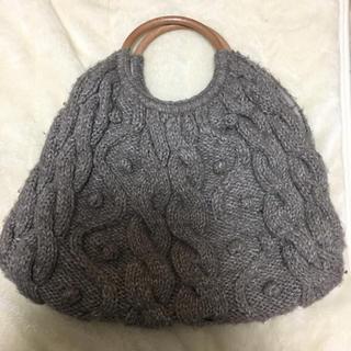 ムジルシリョウヒン(MUJI (無印良品))のニットバック(ハンドバッグ)