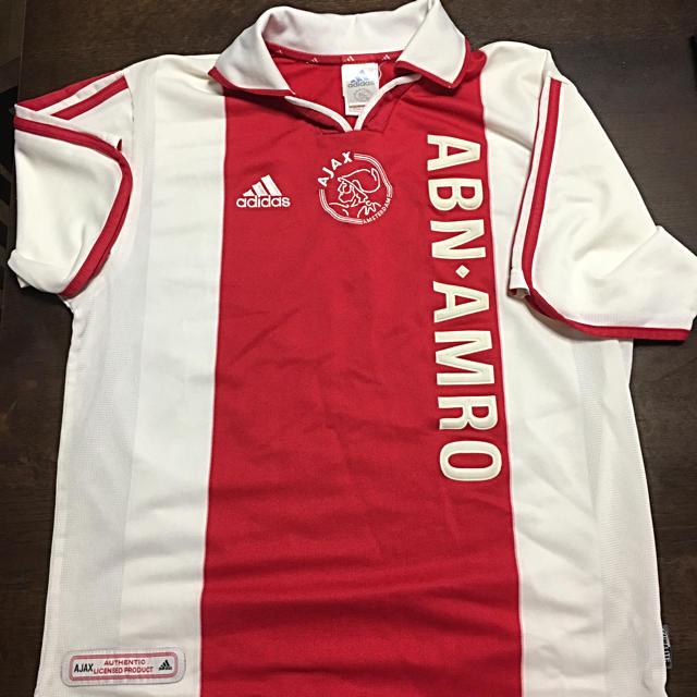 adidas(アディダス)のAJAX アヤックス 2000〜2001シーズンホームゲームシャツ アディダス製 スポーツ/アウトドアのサッカー/フットサル(ウェア)の商品写真