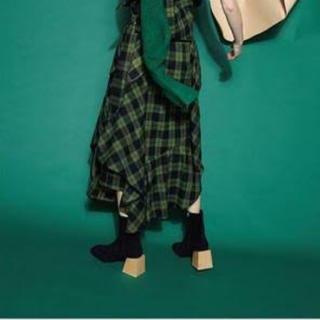エンフォルド(ENFOLD)のENFOLD ソックスブーツ ブラック(ブーツ)