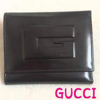 de891f2fc34b グッチ(Gucci)のGUCCI グッチ 財布 正規品 二つ折り ブラック エナメル(折り