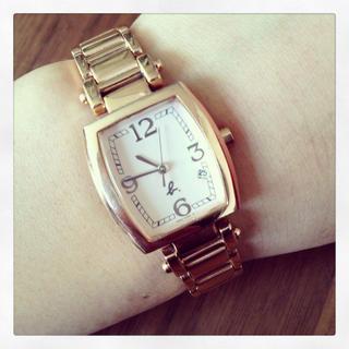 アニエスベー(agnes b.)の*アニエスべー *ピンクゴールドの腕時計(腕時計)