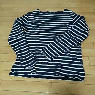 ジーユー(GU)のGU  ボーダーカットソー メンズ(Tシャツ/カットソー(七分/長袖))