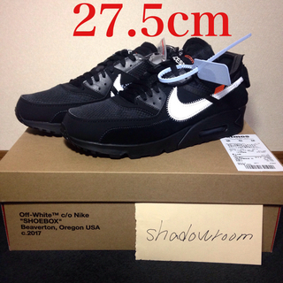 オフホワイト(OFF-WHITE)のoff-white nike air max 90 us9.5 27.5(スニーカー)