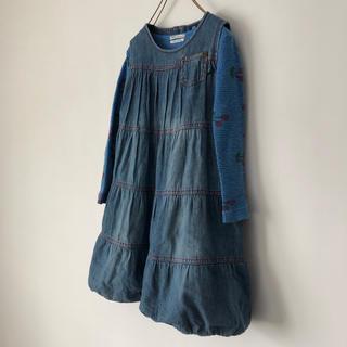 アイシッケライ(ej sikke lej)のジャンパースカート 104cm(ワンピース)