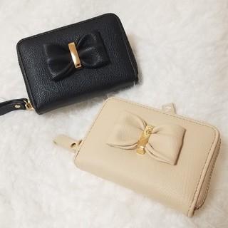 シマムラ(しまむら)の新品♡カードケース♡ぷっくりリボン♡ブラック♡コインケース♡お財布♡(財布)