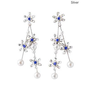 チェスティ(Chesty)のchesty チェスティ Flower Pearl Earring シルバー(イヤリング)