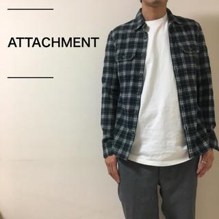 アタッチメント(ATTACHIMENT)のATTACHMENT アタッチメント フランネルシャツ 状態良好 定価2万程(シャツ)