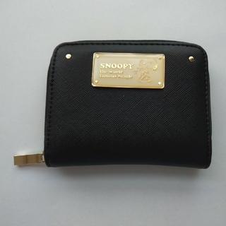 シマムラ(しまむら)のミニ財布 ブラック 黒 スヌーピー(財布)