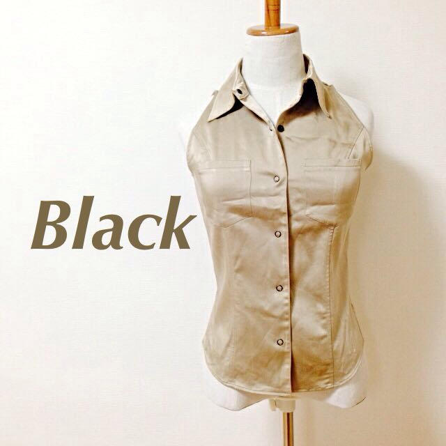 BLACK by moussy(ブラックバイマウジー)のBlack ノースリーブシャツ レディースのトップス(シャツ/ブラウス(半袖/袖なし))の商品写真