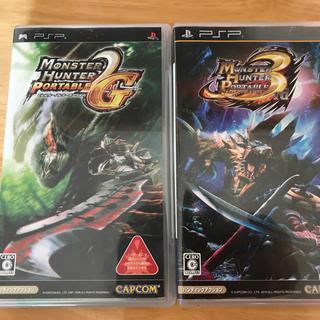 プレイステーションポータブル(PlayStation Portable)のモンハン2g+3rd (おまけ ぽかぽかアイルー村)(携帯用ゲームソフト)