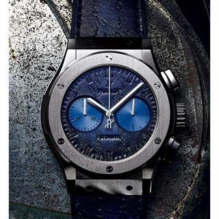 ウブロ(HUBLOT)のクラシック・フュージョン クロノグラフ ベルルッティ スクリット ブルー (腕時計(アナログ))
