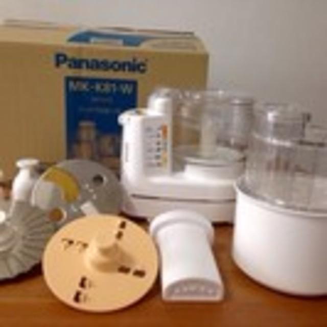 Panasonic(パナソニック)のPanasonic フードプロセッサー MK-K81-W スマホ/家電/カメラの調理家電(フードプロセッサー)の商品写真
