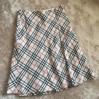 バーバリー(BURBERRY)のバーバリー ウール フレア膝丈スカート(ひざ丈スカート)