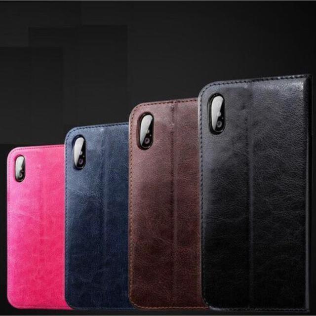iphone xs ケース 保護 | 新品 手帳型 iPhoneケース PUレザーの通販 by peach.Jr's shop|ラクマ
