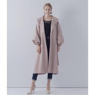 ラベルエチュード(la belle Etude)のボリューム袖ロングガウンコート [ピンク](ロングコート)