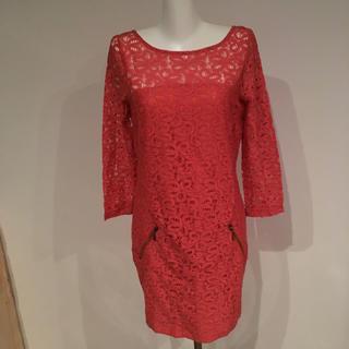 ザラ(ZARA)のSUITEBLANCO 新品未使用 ピンク ワンピース ドレス(ミディアムドレス)