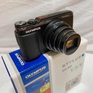 オリンパス(OLYMPUS)のOLYMPUS デジカメ STYLUS SH-06 ストラップ付き!(コンパクトデジタルカメラ)