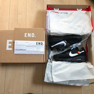 ナイキ(NIKE)のTHE TEN Nike Air Max 90 off white 24.0(スニーカー)