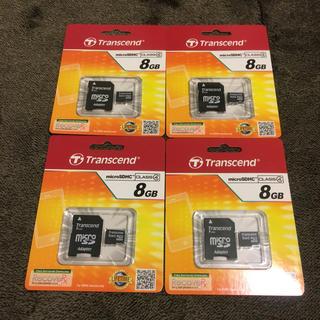 トランセンド(Transcend)の8GB CLASS4 マイクロミニ(PC周辺機器)