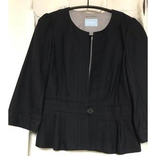 スーツカンパニー(THE SUIT COMPANY)の七分袖  ノーカラージャケット  美品(ノーカラージャケット)