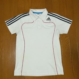 アディダス(adidas)のアディダス ポロシャツ 白 Lサイズ(ポロシャツ)