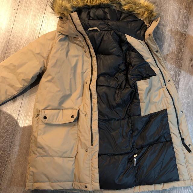 GU(ジーユー)の【美品】ジーユー GU 中綿 モッズコート ダウンジャケット ベージュ メンズのジャケット/アウター(ダウンジャケット)の商品写真
