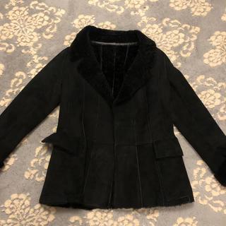 ニコルファーリ(Nicole Farhi)のNICOLE FARHI スウェード ジャケット コート(毛皮/ファーコート)